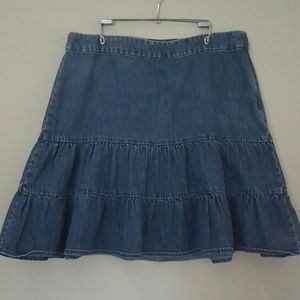 GAP Denim Gathered Ruffled 80s Style Skirt 10